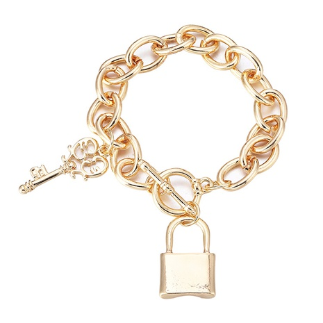 simple heart-shaped fashion OT buckle bracelet NHBD303425's discount tags