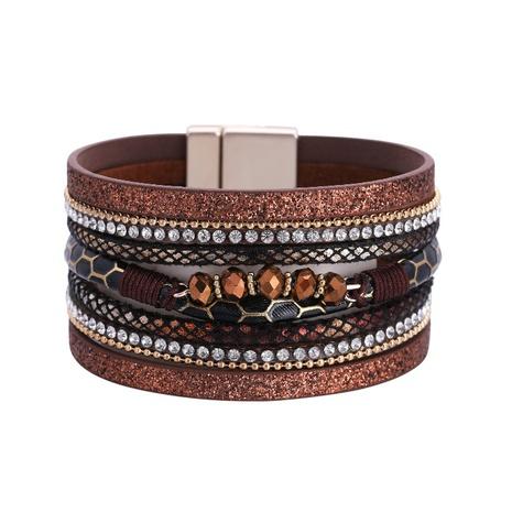 Bohemian Wide Edge Crystal Bracelet NHBD303426's discount tags