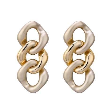 Fashion Irregular Twist Chain Earrings  NHBD303446's discount tags