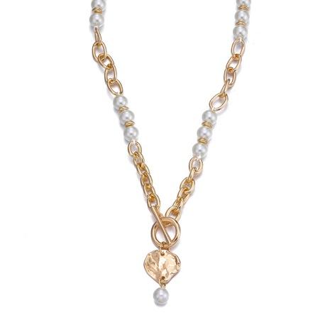 einfache Perlenkette OT Schnalle Halskette NHBD303454's discount tags