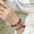 multilayered Bohemian beaded tassel bracelet NHBD303456