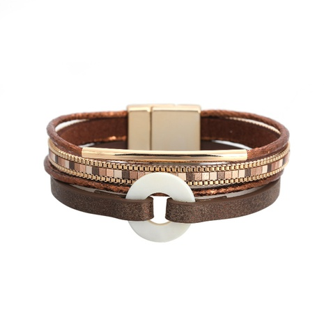 bohemian copper tube diamond magnetic buckle bracelet NHBD303457's discount tags