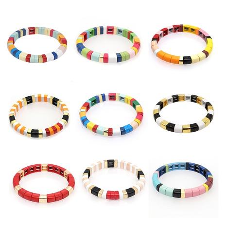 Einfaches Regenbogenperlenarmband im Bohème-Stil NHGW303472's discount tags