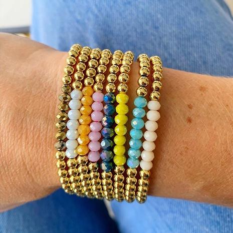 Einfaches böhmisches Perlenarmband NHGW303486's discount tags