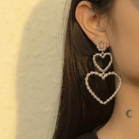 retro romantic thread love alloy earrings NHXR303507's discount tags