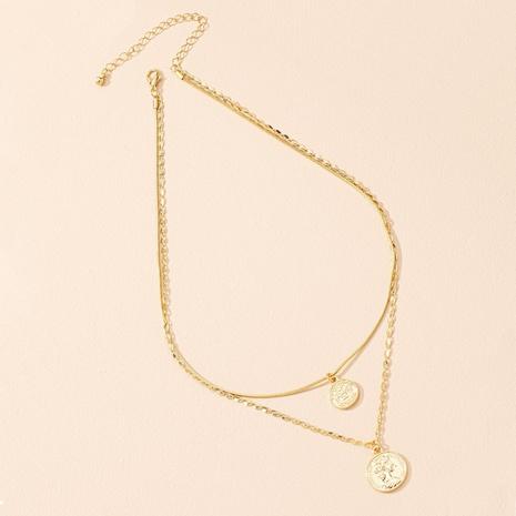 fashion gold coin portrait pendant necklace NHAI303537's discount tags