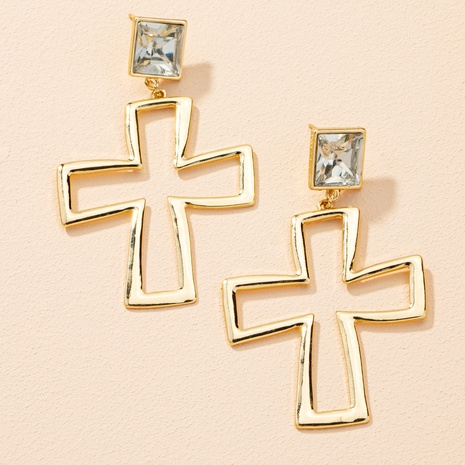 Mode Kreuz Diamant Ohrringe NHAI303538's discount tags