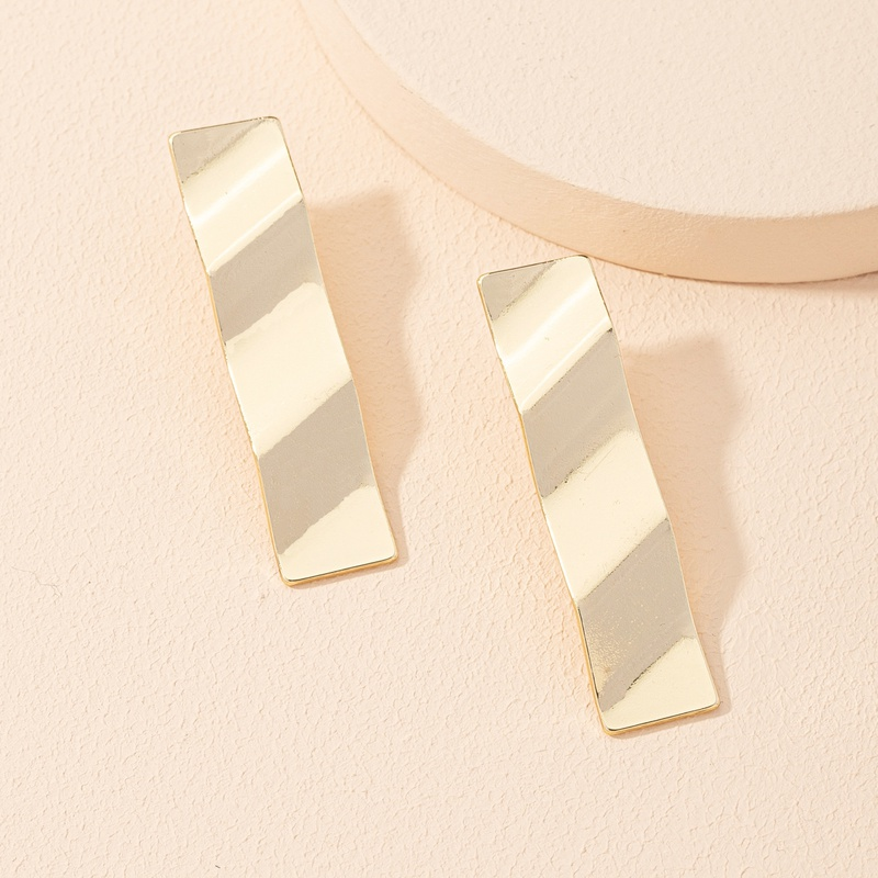 fashion square wave earrings  NHAI303540