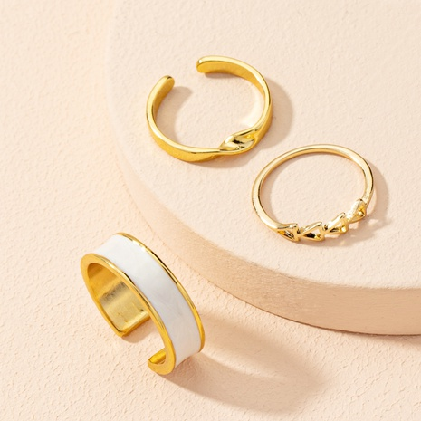 Korea's simple twisted opening adjustable ring set NHAI303542's discount tags