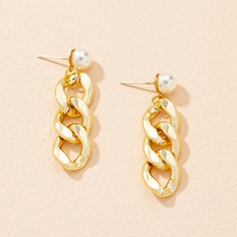 fashion chain retro pearl earrings NHAI303544's discount tags