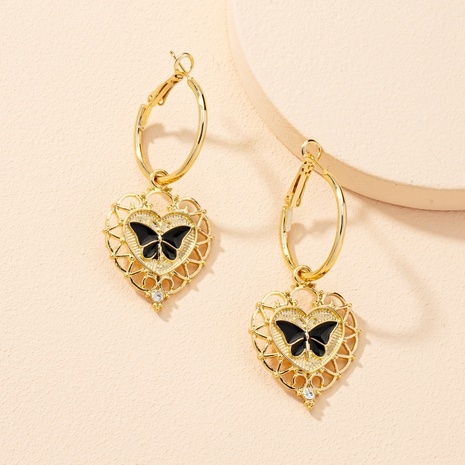 simple heart fashion butterfly earrings  NHAI303550's discount tags