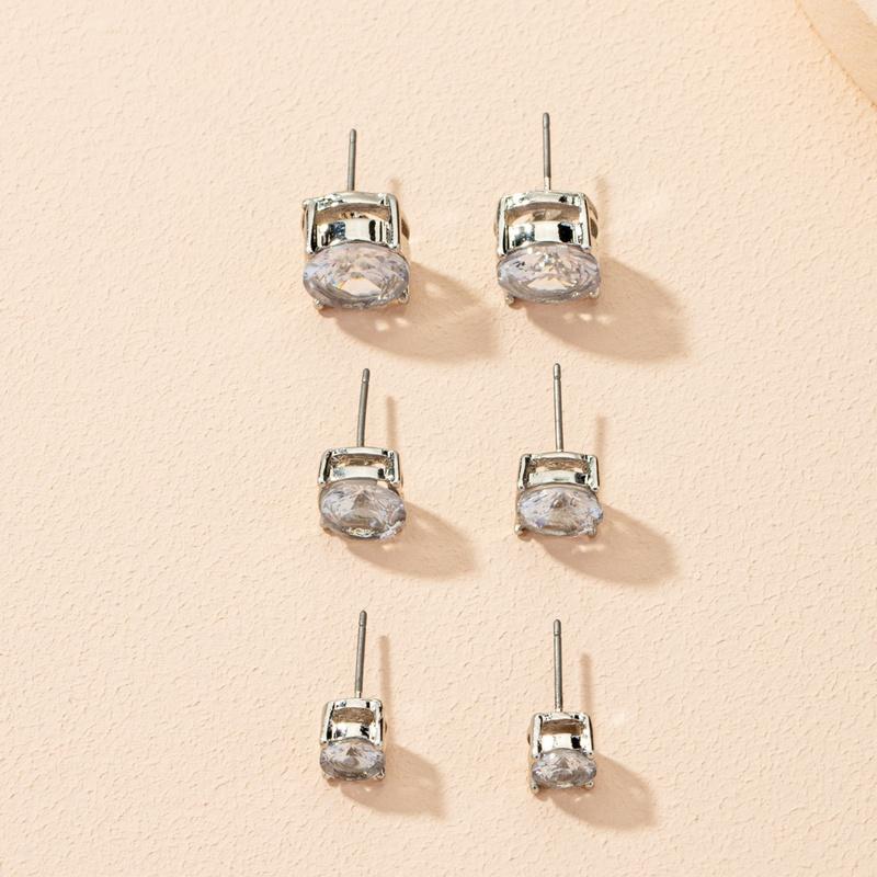 fashion small diamond earrings set  NHAI303552
