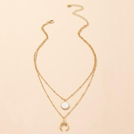 collar con colgante de luna simple NHAI303553's discount tags