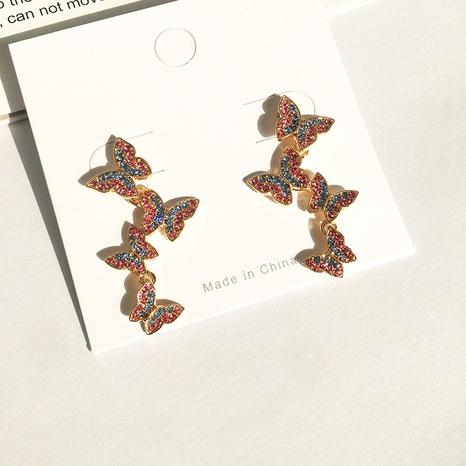 fashion diamond butterfly alloy earrings NHGU303556's discount tags