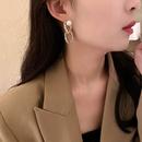 Asymmetric chain pearl earrings NHOT303639