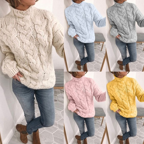 new high-neck fashion twist sweater NHJG304164's discount tags