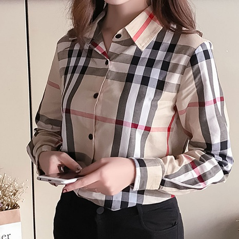 new simple plaid shirt  NHJC304140's discount tags