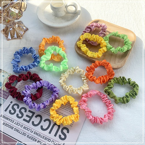 candy color hair scrunchies NHOF303696's discount tags