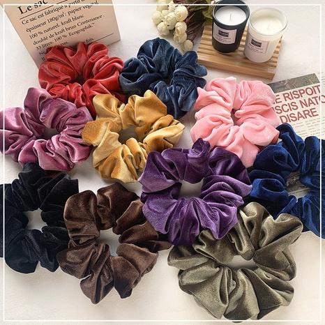velvet oversized pure color hair scrunchies NHOF303703's discount tags