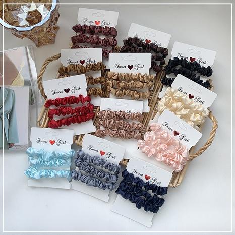 Chouchous en satin de couleur unie NHOF303704's discount tags