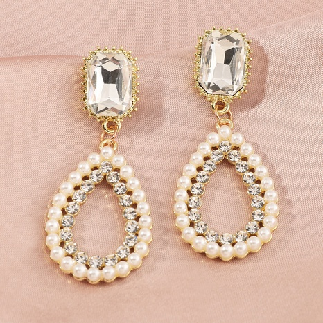 fashion round five-pointed star pearl earrings  NHNZ303735's discount tags