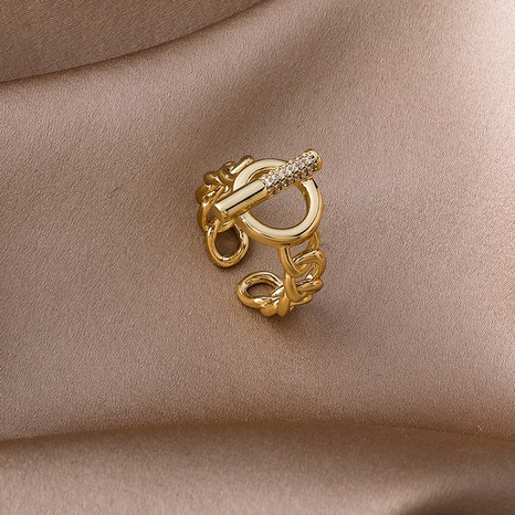 fashion simple new open ring NHMS303757's discount tags
