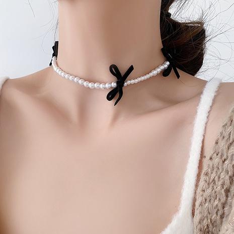 Perlenkette aus Samtschleife NHMS303772's discount tags