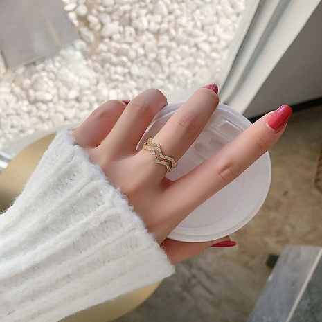 fashion double simple open ring NHMS303773's discount tags