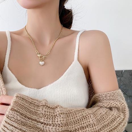 OT Schnalle Perle Herz Halskette NHMS303776's discount tags