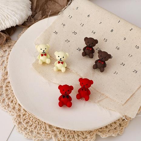 Cute Cartoon Bow Bear Earrings NHMS303784's discount tags