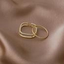 Korean square microinlaid zircon double ring set NHMS303792