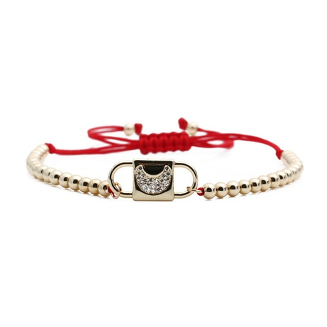 zircon star copper beads red string moon adjustable bracelet NHYL303832's discount tags
