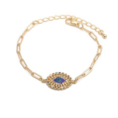hip hop inlaid zircon demon eye cuban HipHop adjustable bracelet NHYL303845's discount tags