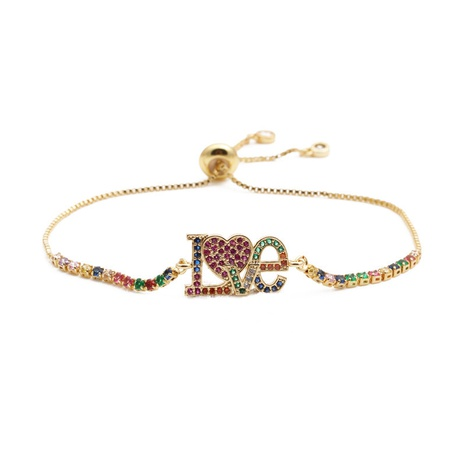 Bracelet ajustable Love micro-incrusté de zircon NHYL303848's discount tags