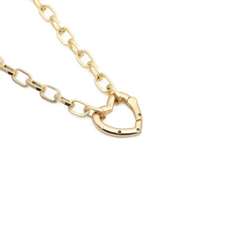 HipHop heart necklace NHYL303855's discount tags