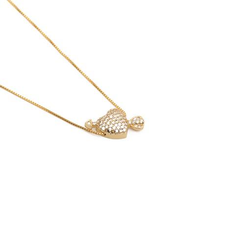 Zirkon ein Pfeil Piercing Herz Halskette NHYL303876's discount tags