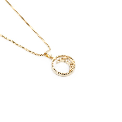 collar con colgante de luna de circonita perla simple de moda NHYL303896's discount tags