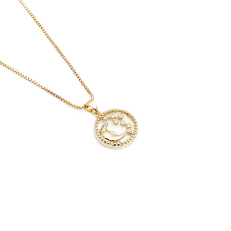 Fashion zircon moon star pendant necklace NHYL303898's discount tags