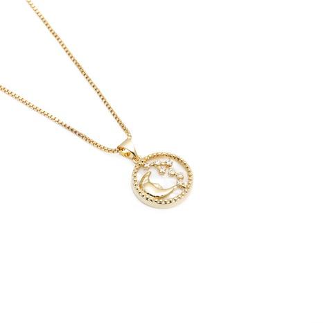 Collar colgante de estrella de luna de circonio de moda NHYL303898's discount tags
