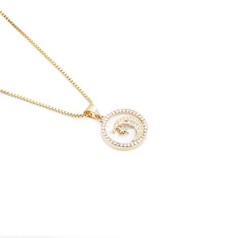 collar de estrella de seis puntas con luna y perlas de circonitas NHYL303903's discount tags