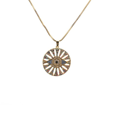 Fashion Devil's Eye Pendant Necklace NHYL303919's discount tags