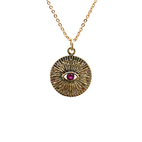 Micro-inlaid Zircon Devil's Eye Necklace  NHYL303920's discount tags