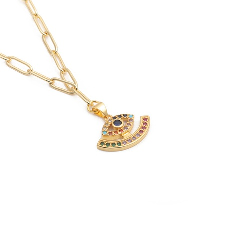 micro-inlaid zircon devil's eye necklace  NHYL303933's discount tags