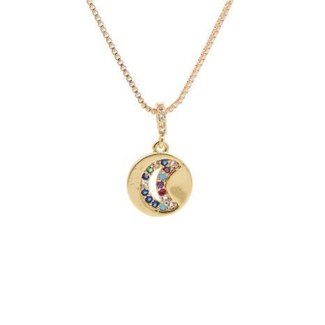 collar con micro incrustaciones de circonitas y estrellas lunares NHYL303935's discount tags
