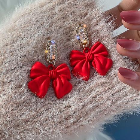 Korean fashion bow earrings NHXI303944's discount tags