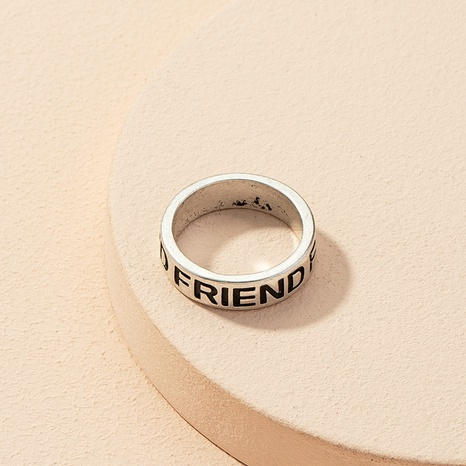 Korea einfacher Brief Freund Ring NHAI303974's discount tags