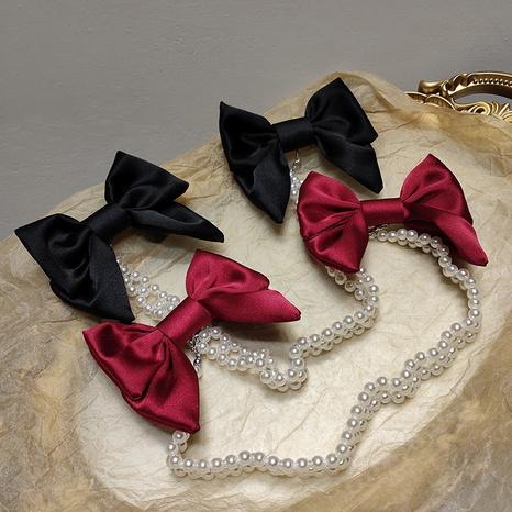 Pinza de pelo de la perla del arco de la moda de Corea NHAR303980's discount tags