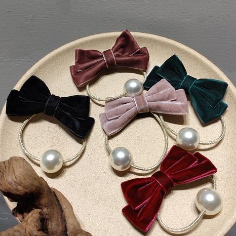 Anillo de pelo de perlas con lazo de terciopelo dulce de Corea NHAR303994's discount tags