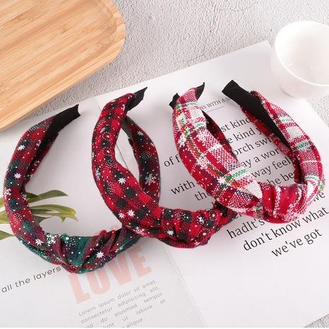 Schneeflocke geknotet breitkrempiges Stirnband NHAQ304021's discount tags