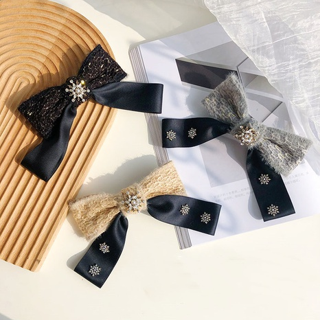 fashion fabric bow hairpin  NHSM303604's discount tags